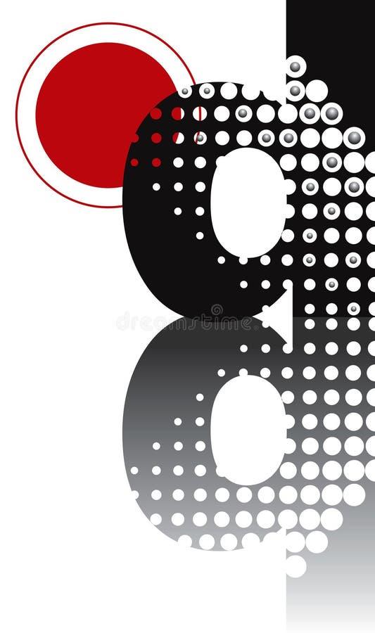Download Dots abstract zen alphabet stock vector. Image of halftone - 3136675