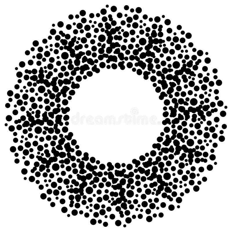 Dots Circle. Step and repeat pattern of dots in a circle stock illustration
