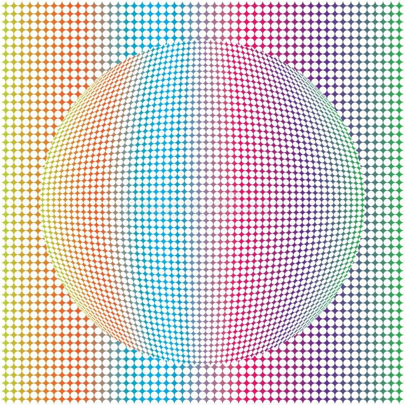 Dots Colorful Sphere Patten Background rotondo astratto geometrico royalty illustrazione gratis