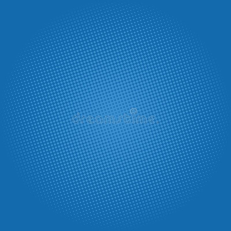 Dots on Dark Blue Background, Pop Art Background stock illustration