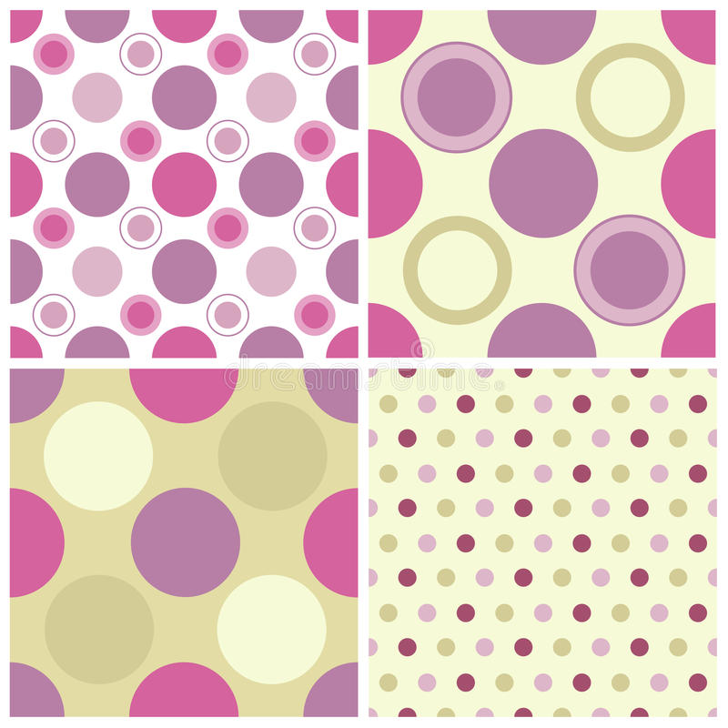 dots den seamless polkaen stock illustrationer