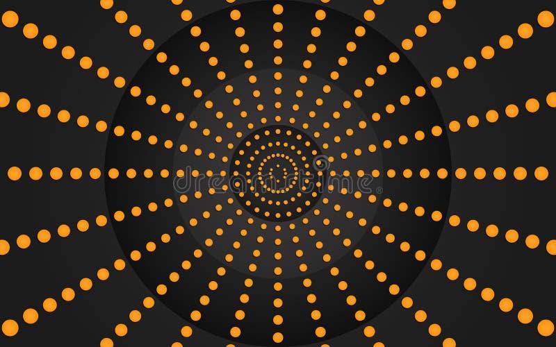 Dots Graphic Design orange - papier peint illustration de vecteur
