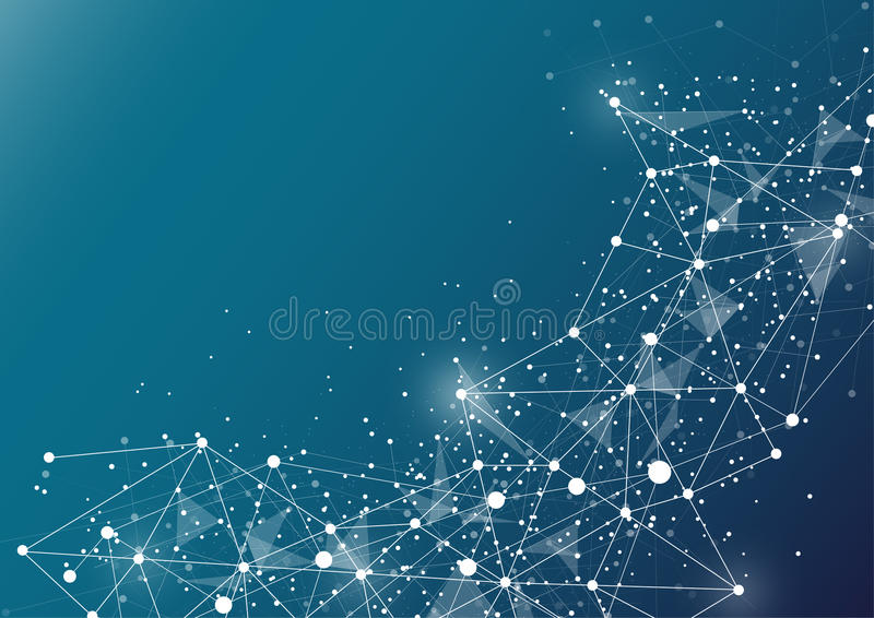 Dots and lines connected together. abstract background. Vector Illustration royalty free illustration
