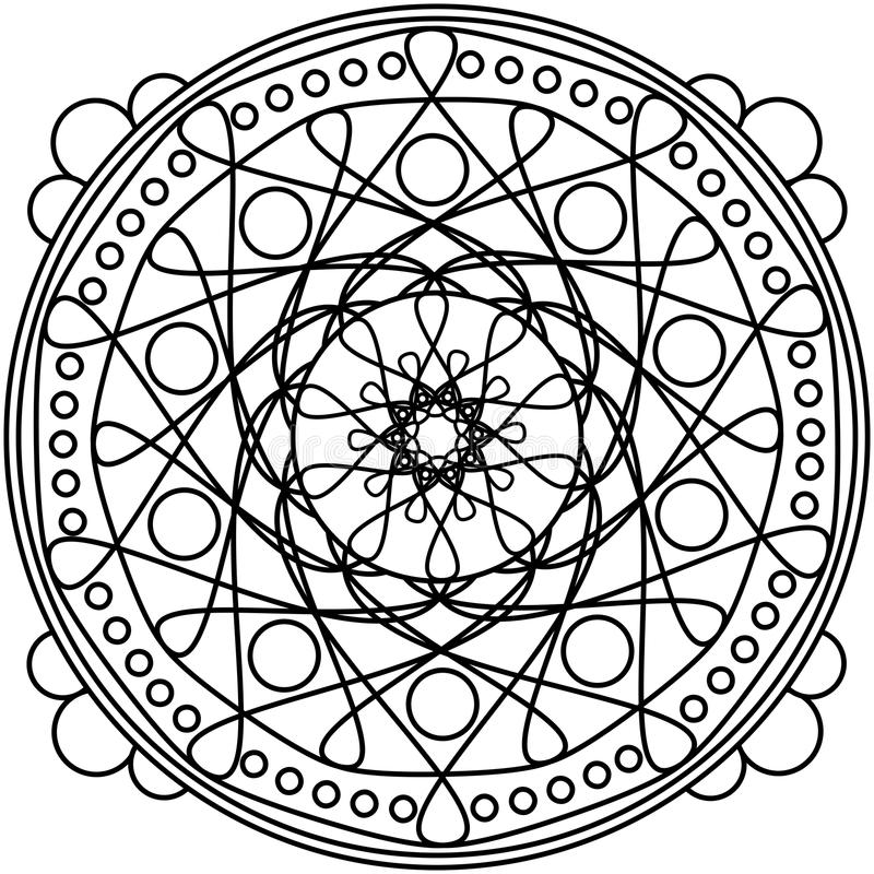 Download Dots Mandala Round Ornament Stock Illustration - Image: 90690901