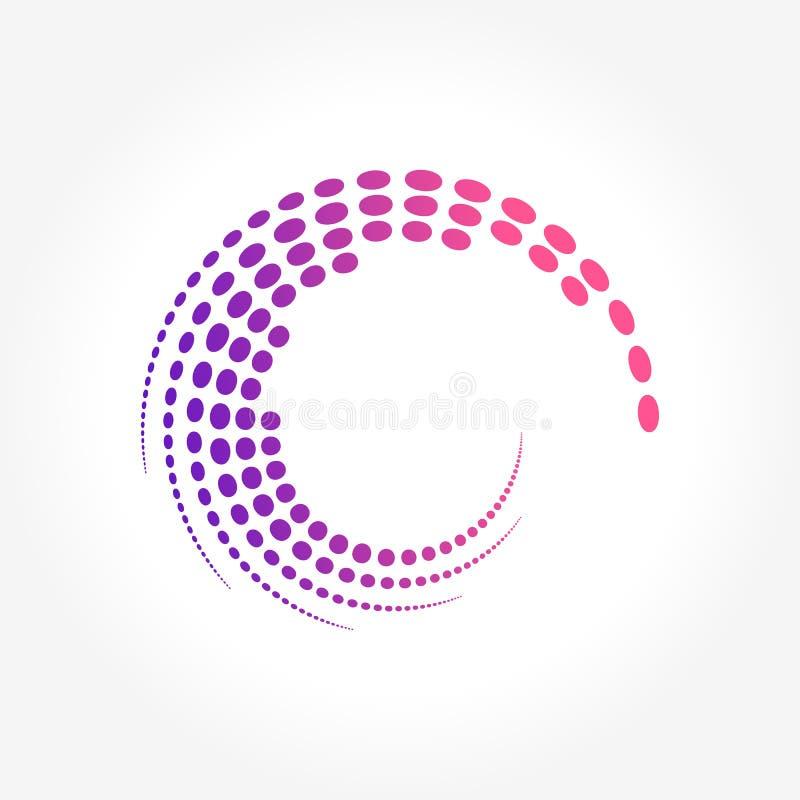 Dots Pattern abstracto creativo en el movimiento del círculo ilustración del vector