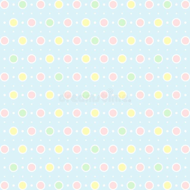 dots polka royaltyfri illustrationer