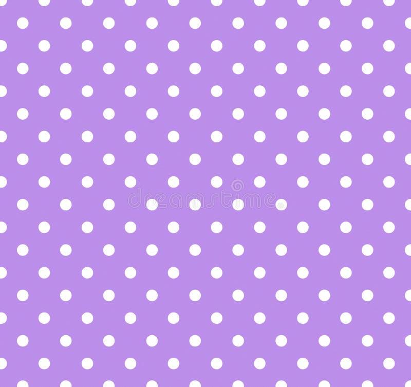 dots purpur white för polka royaltyfri illustrationer