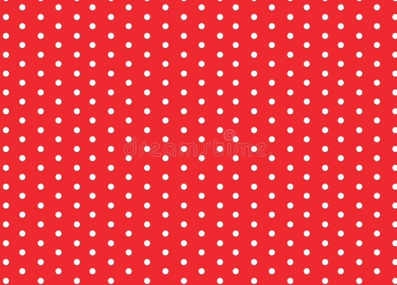 dots röd white för polka vektor illustrationer