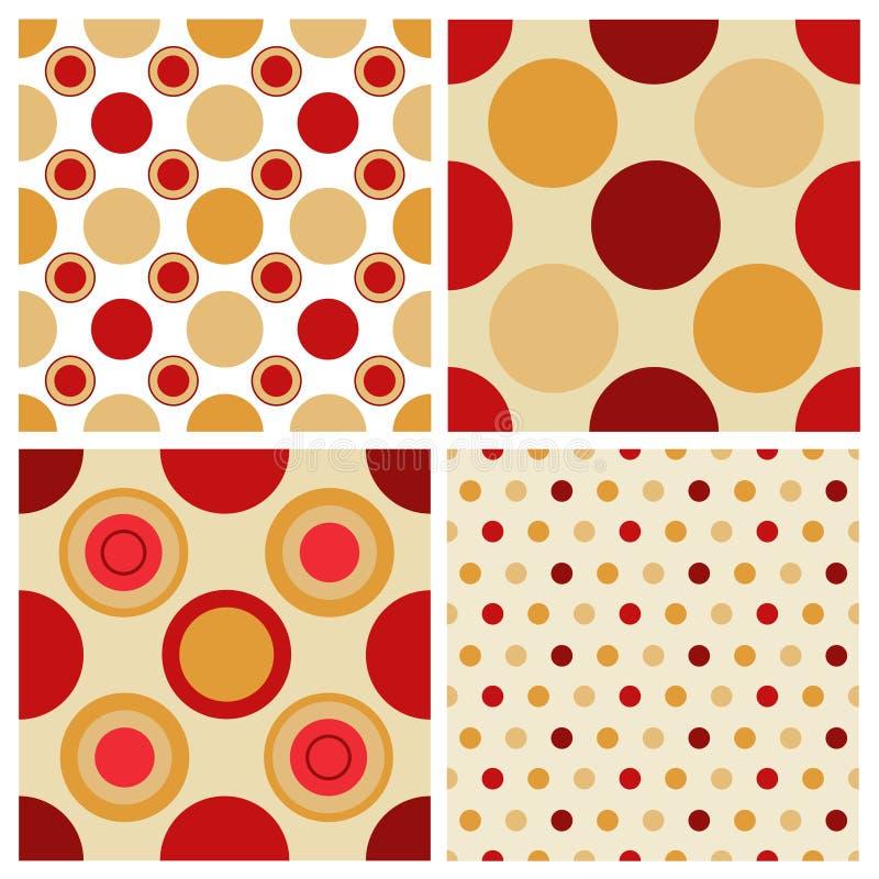 dots retro seamless för polka royaltyfri illustrationer