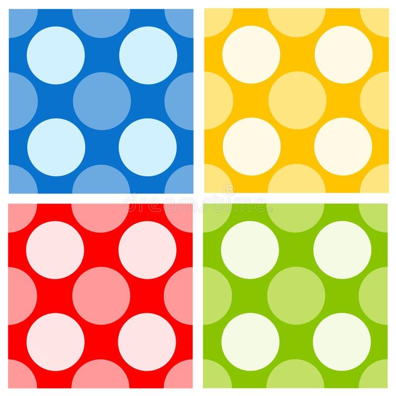 dots retro seamless för polka vektor illustrationer