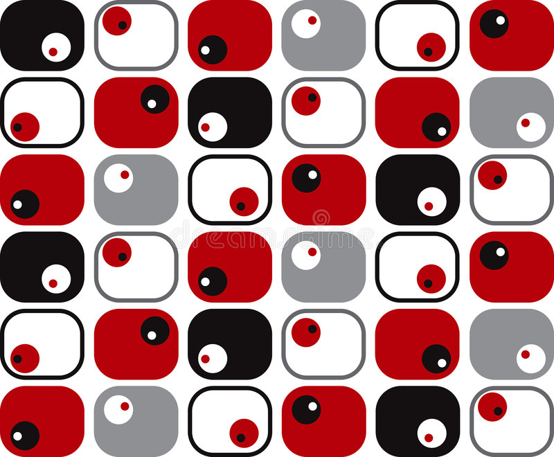 dots retro slappa fyrkanter royaltyfri illustrationer