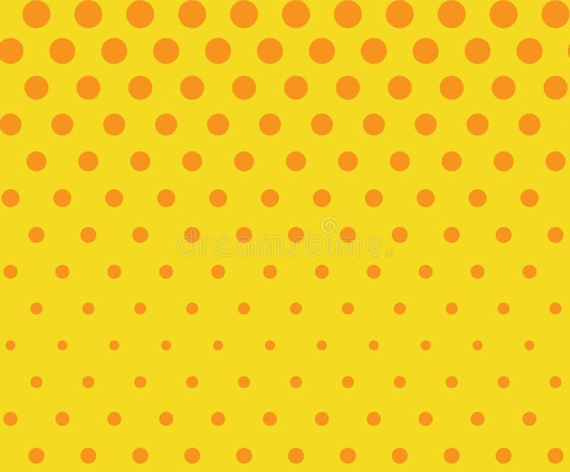 Dots seamless pattern, background. Retro pop art style. Vector illustration. royalty free illustration