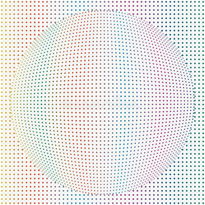 Dots Sphere Globe Colorful Patten redondo geométrico abstrato Backg ilustração stock