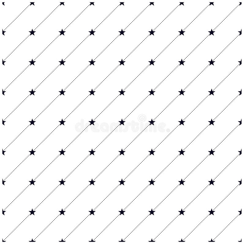 Dots and stars pattern royalty free stock image