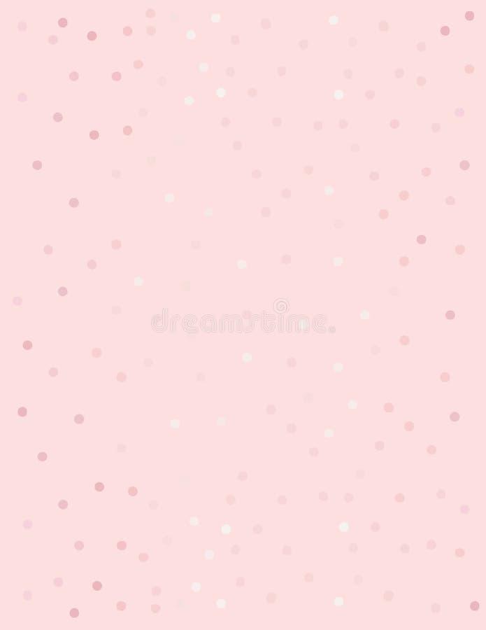 Dots Vector Pattern brillante abstracto Diseño en colores pastel geométrico Fondo rosado libre illustration