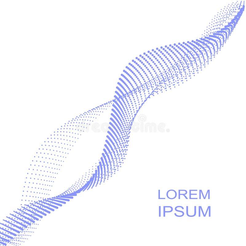 Dots Wave, tecnología, fondo blanco, ejemplo del vector stock de ilustración