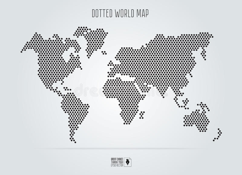 Dotted abstract world map vector illustration black round dots download dotted abstract world map vector illustration black round dots stock vector illustration gumiabroncs Images