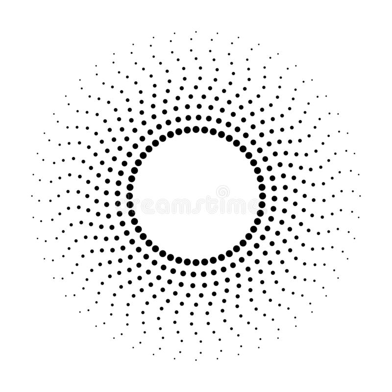 Dotted abstract monochrome background. Halftone pattern vector illustration