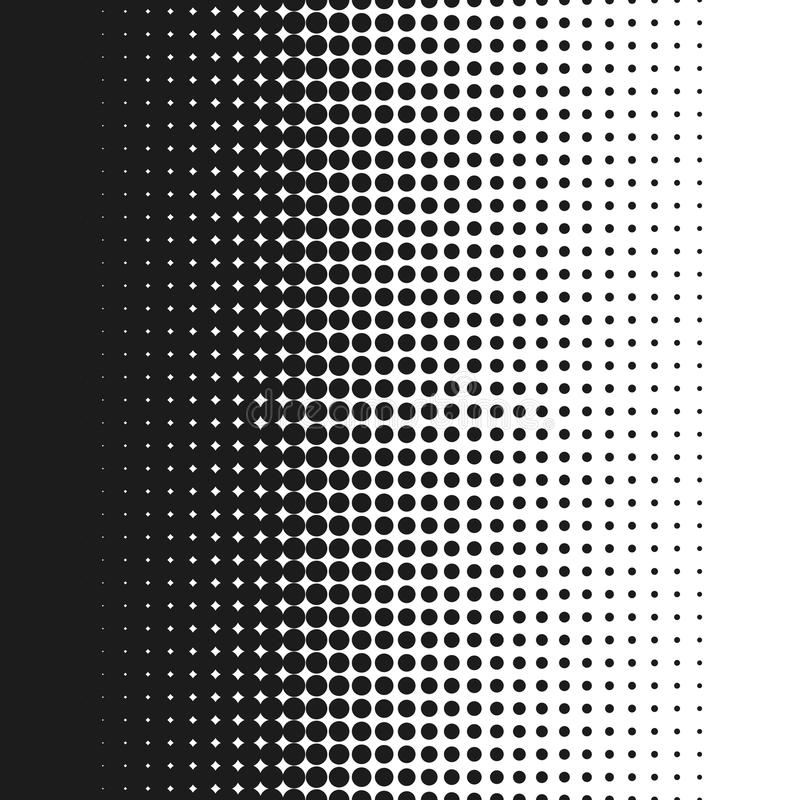 Dotted background vector illustration, white and black halftone gradient seamless stock illustration