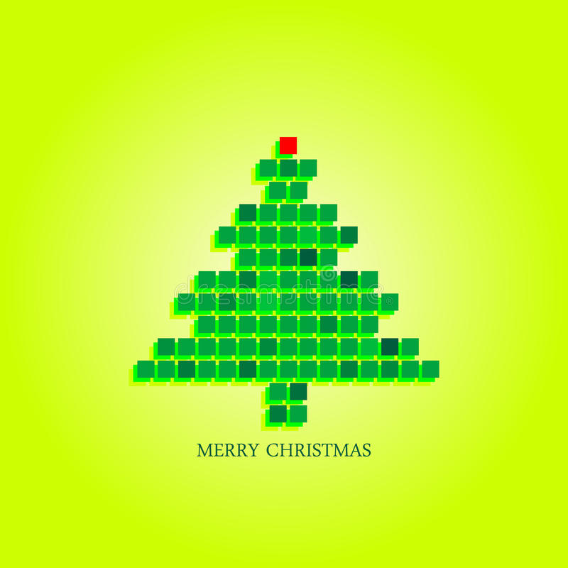 Download Dotted Christmas Tree Funky Greeting Card Design Stock Illustration - Illustration: 26671621