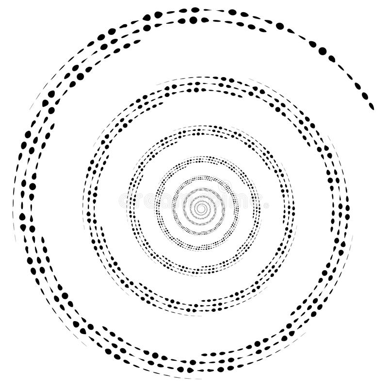 Dotted circular element. Mononochrome black and white illustrati. On on white. - Royalty free vector illustration vector illustration