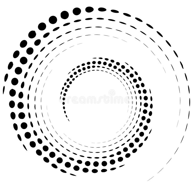 Dotted circular element. Mononochrome black and white illustrati. On on white. - Royalty free vector illustration royalty free illustration