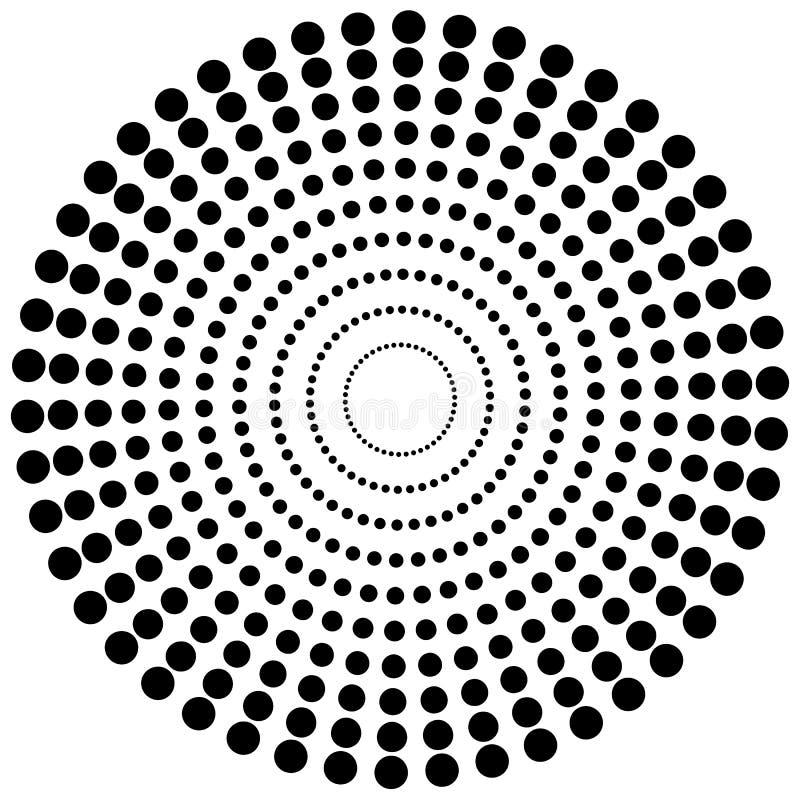 Dotted circular element. Mononochrome black and white illustrati. On on white. - Royalty free vector illustration vector illustration