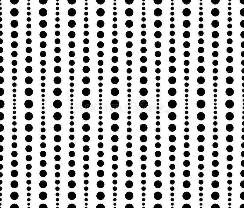 Dotted, dots pattern, background. Seamlessly repeatable both sid royalty free illustration