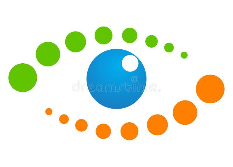 Dotted eye art royalty free illustration