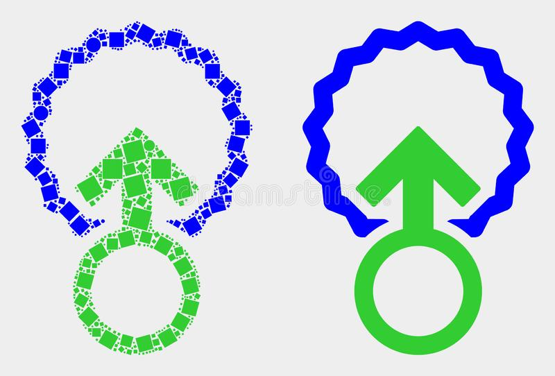 Dotted and Flat Vector Insemination Icon. Pixel and flat insemination icons. Vector mosaic of insemination combined with randomized dots and circle dots vector illustration