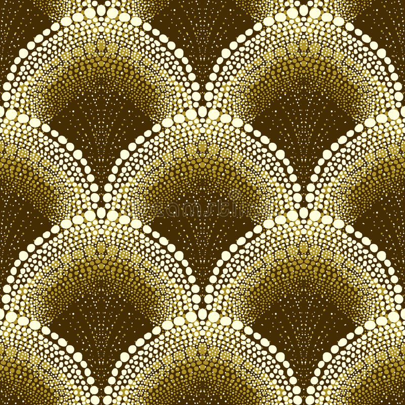 Free Dotted Geometric Pattern In Art Deco Style Stock Photo - 31535330