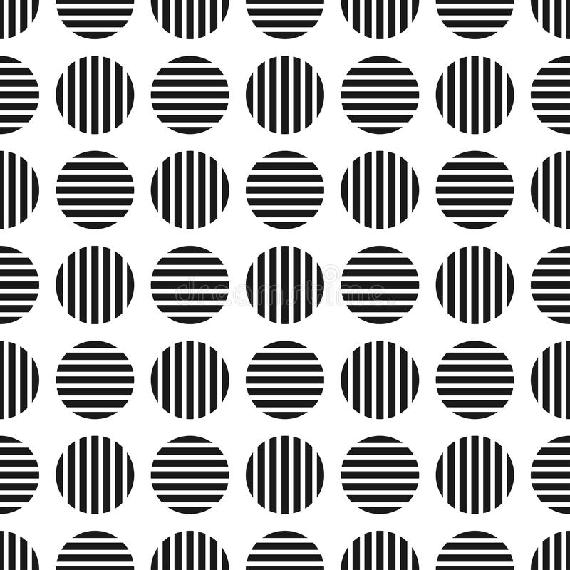 Dotted geometric seamles pattern. Striped cirlces - endless background. Similar to cloth texture stock illustration