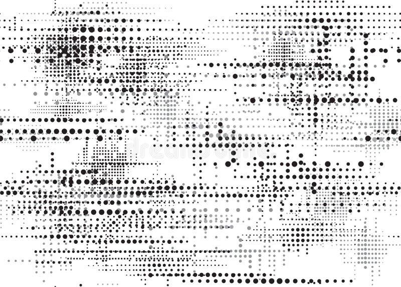 GRUNGE DOTTED SAEMLESS VECTOR PATTERN. HALFTONE DESIGN TEXTURE. stock illustration
