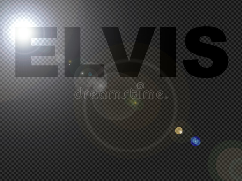 Dotted Lights Elvis Sign Text. Monochrome Dotted Lights Elvis Sign Text royalty free illustration