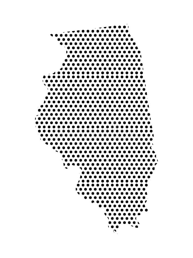 Dotted Pattern Map of US State of Illinois. Vector illustration of the Dotted Pattern Map of US State of Illinois royalty free illustration