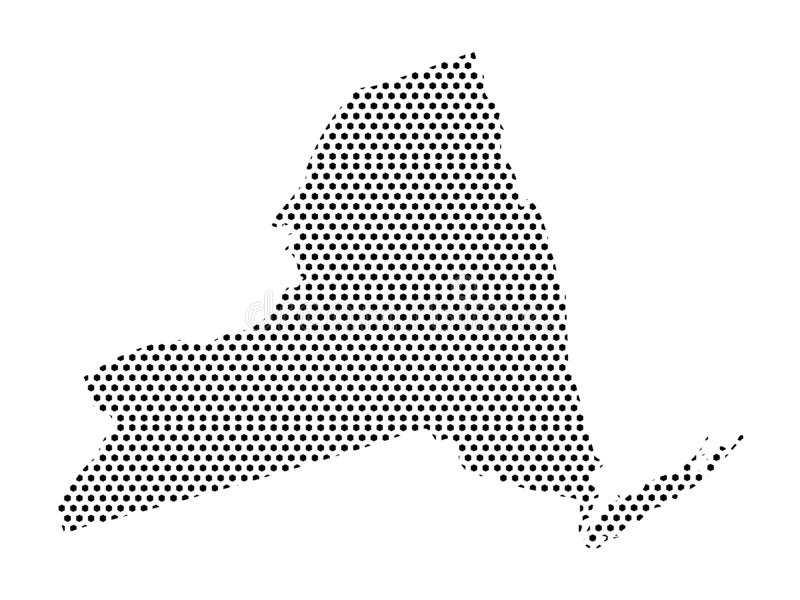 Dotted Pattern Map of US State of New York. Vector illustration of the Dotted Pattern Map of US State of New York royalty free illustration