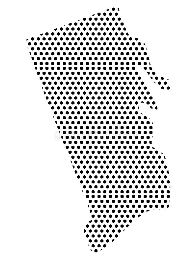Dotted Pattern Map of US State of Rhode Island. Vector illustration of the Dotted Pattern Map of US State of Rhode Island stock illustration