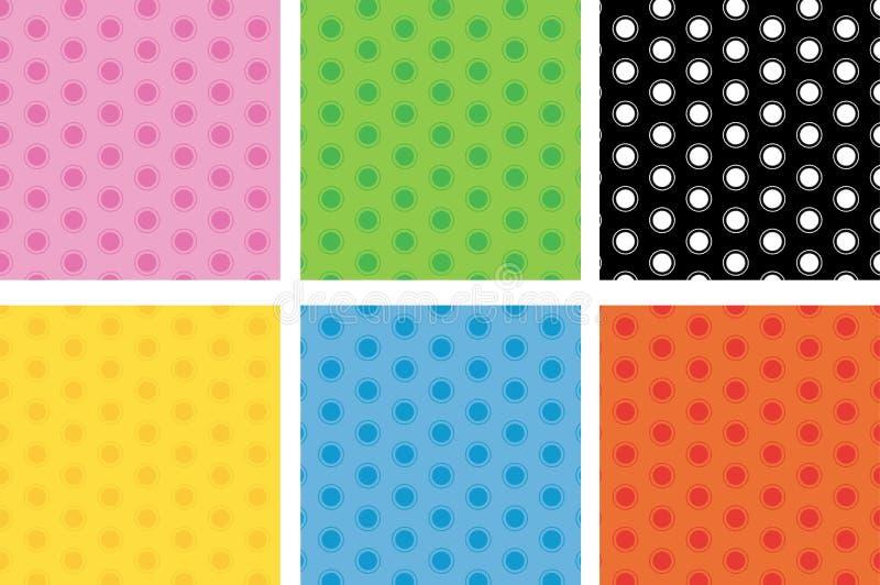 Dotted seamless pattern stock illustration