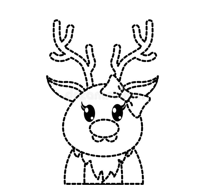 Dotted Reindeer Stock Illustrations - 104 Dotted Reindeer ...