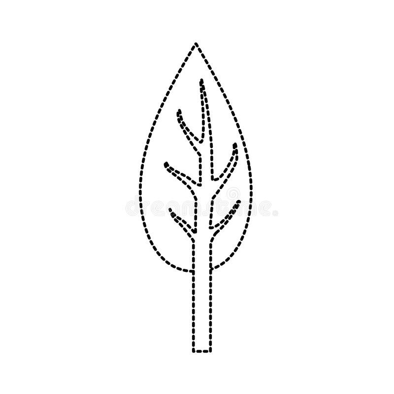 Dotted shape natual and ecological tree with branches plant vector illustration