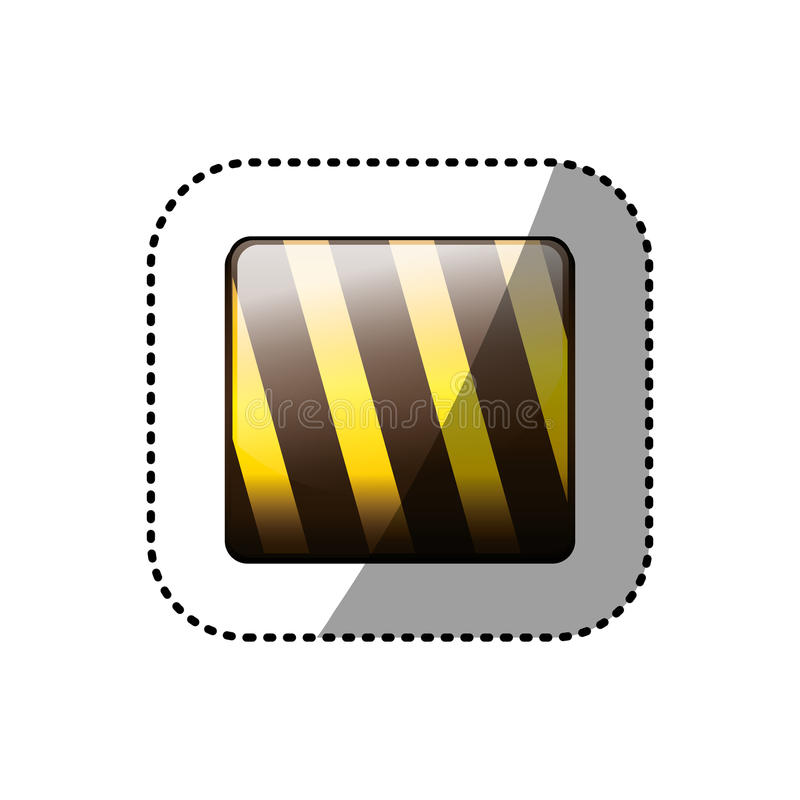 Dotted sticker in square shape of traffic barrier icon royalty free illustration