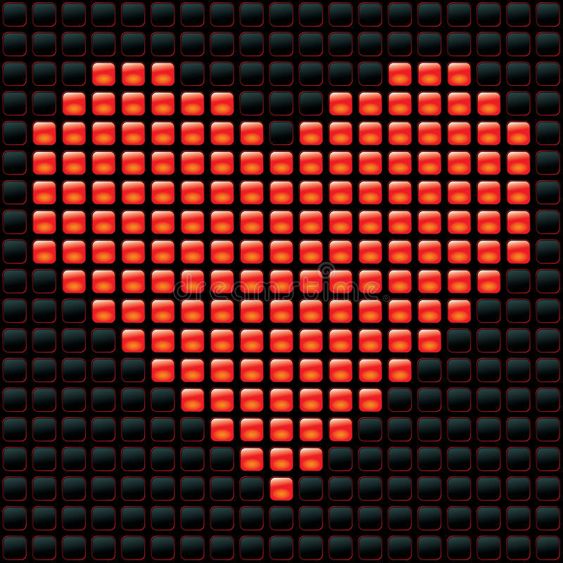 Dotted Valentine vector illustration