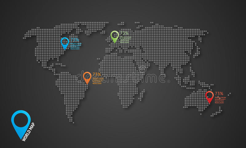 Dotted vector world map with shadows and map icons stock download dotted vector world map with shadows and map icons stock illustration illustration of modern gumiabroncs Image collections