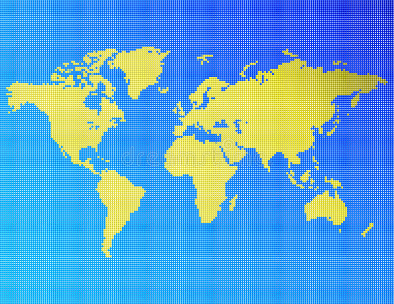 Dotted world vector illustration