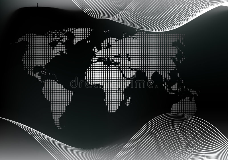 Dotted world map. Vector illustration background royalty free illustration