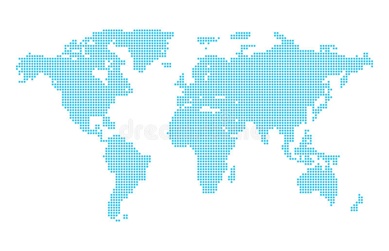 abstract computer graphic dotted world map vector illustration