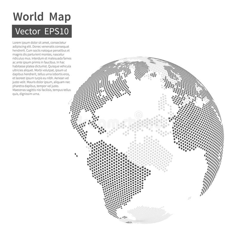 Dotted world map background earth globe globalization concept download dotted world map background earth globe globalization concept stock vector illustration gumiabroncs Images