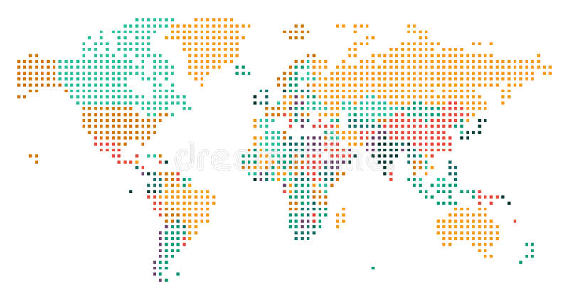download dotted world map with countries borders stock vector illustration of europe green