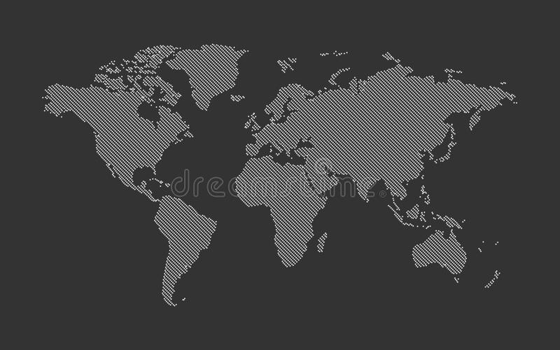Dotted world map. Modern style royalty free illustration