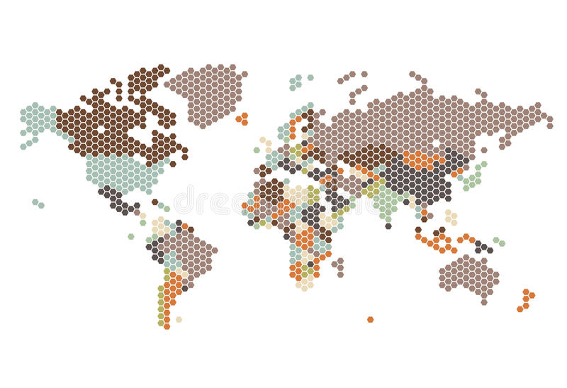 Dotted world map of hexagonal dots stock vector illustration of download dotted world map of hexagonal dots stock vector illustration of graphic grid gumiabroncs Gallery